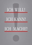 Motivationsposter ICH WILL
