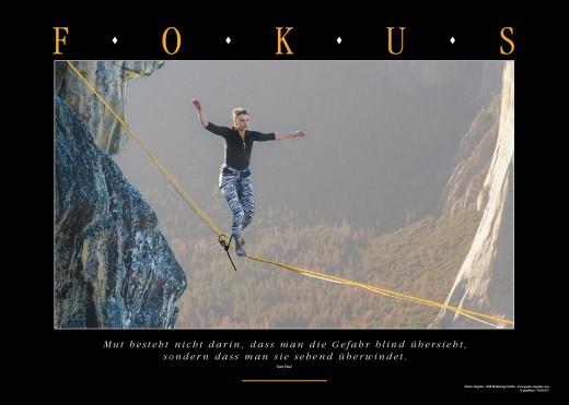 FOKUS - Motivationsbild für Fokusierung und Mut
