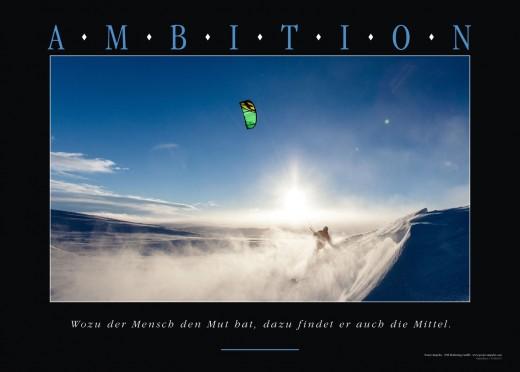 AMBITION - Motivation+Poster Wandbild