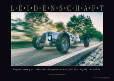 LEIDENSCHAFT Leinwandbild - Motiv Oldtimer Rennwagen