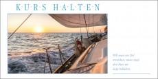 Grußkarte KURS HALTEN - Segelyacht