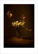 Rosen und Lilien Blumen Wandbild auf Fine Art Print Papier