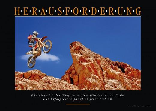 Motivationsbild HERAUSFORDERUNG - Motocross
