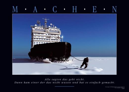 Motivationsposter MACHEN-Eisbrecher