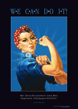 Motivationsbild WE CAN DO IT! in Blau