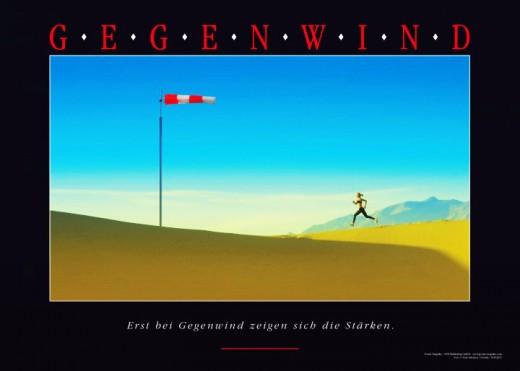 GEGENWIND Kunstdruck - Motivationsbild