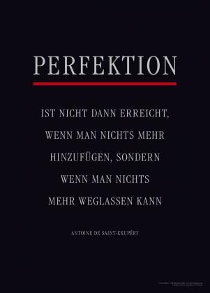 Motivationsposter PERFEKTION