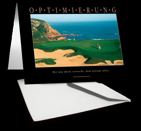 Grußkarte OPTIMIERUNG Motiv Golf