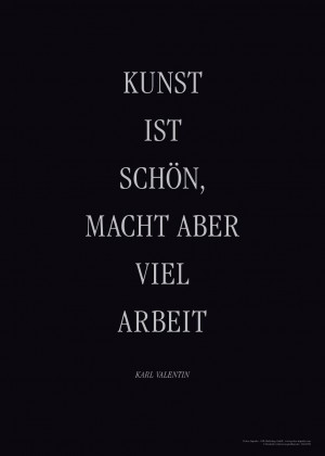 Motivationsposter Karl Valentin