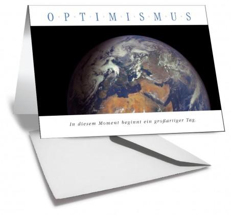 Grußkarte OPTIMISMUS Planet Erde