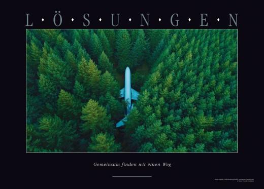 LÖSUNGEN - Motivationsposter mit Motiv Jet im Wald