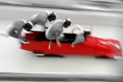 Acrylbild RED LINE 2, Teamwork
