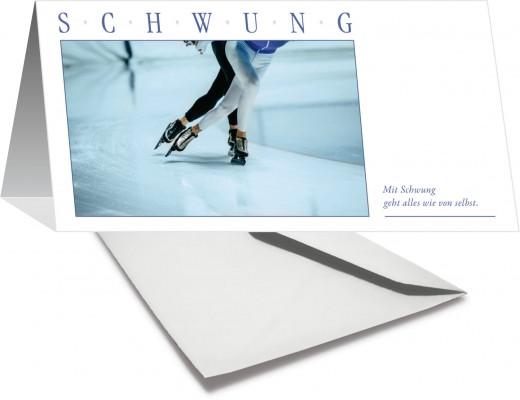 Grußkarte SCHWUNG - Eislauf