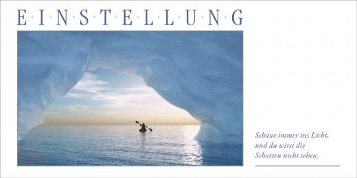 Grußkarte EINSTELLUNG - Eisberg