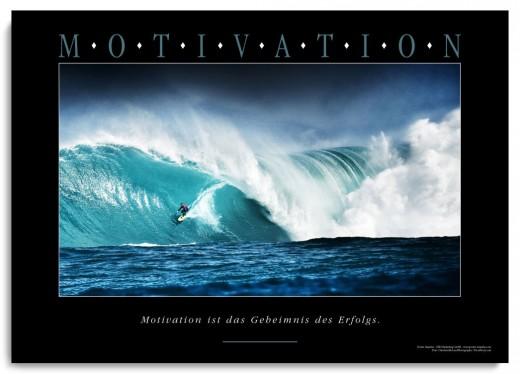Acrylbild MOTIVATION – Motiv Bigwave Surfer