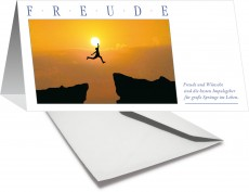 Grußkarte FREUDE - Sprung