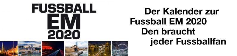Der Wandkalender zur Fussball EM 2020