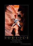 Motivationsposter - SERVICE