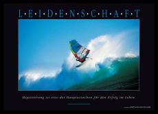 Motivationsposter - LEIDENSCHAFT Wandbild mit Zitat