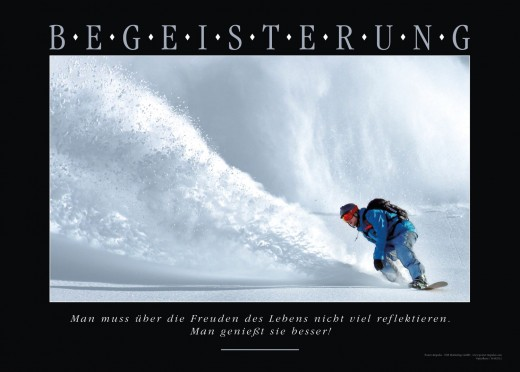 BEGEISTERUNG - Motivationsbild Snowboard