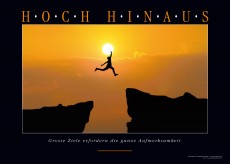 Motivationsposter - HOCH HINAUS Motivationsbild