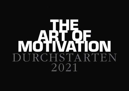 Wandkalender DURCHSTARTEN - 2021 black edition - Motivationskalender Din A2 in Schwarz