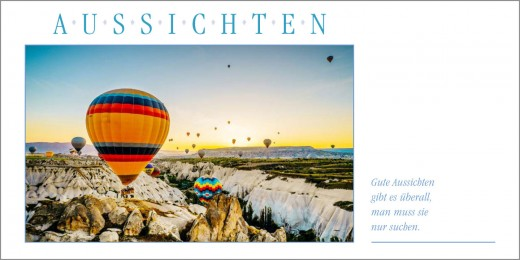 Grußkarte AUSSICHTEN - Ballonfahren