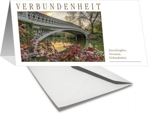 Grußkarte VERBUNDENHEIT - Brücke