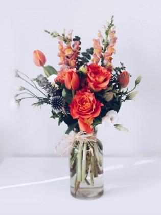 Blumenstrauß Frühlingsblumen Leinwandbild