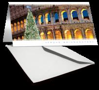 Grußkarte WEIHNACHTEN COLOSSEUM frohe Weihnachten