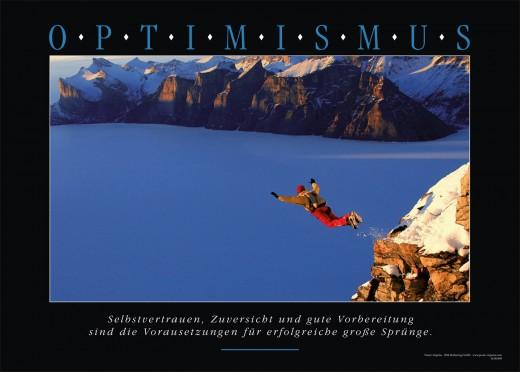 Motivationsbild OPTIMISMUS - Wingsuit springer