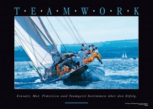 Acrylbild TEAMWORK – Admiralscup