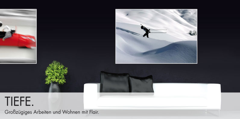 Repräsentative Acrylbilder von preisgekrönten Fotografen.
