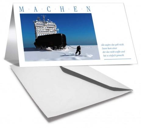 Grußkarte MACHEN - 20 Stück mit Kuvert