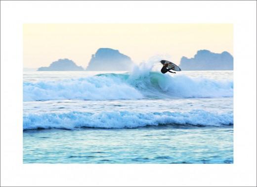 Surfen in der Abendsonne