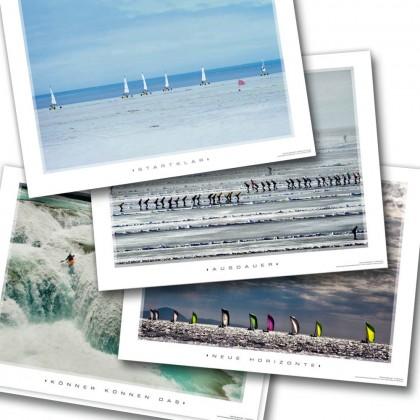 Kunstdruck-Bundle WASSER mit 4 Motivationsposter