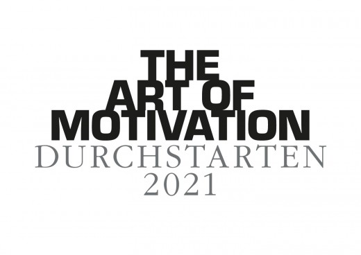Wandkalender DURCHSTARTEN - 2021 White Edition - Motivationskalender Din A2